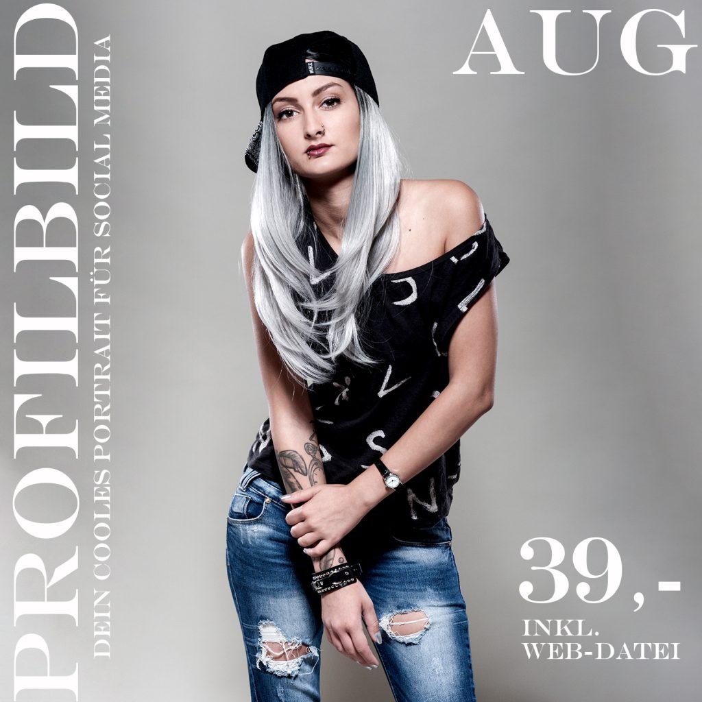 August-Aktion-Profilbild für deinen social media-Auftritt, oder Dating Portal