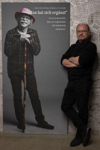 Das Leinwandportrait von Günter Müller zum Projekt #derstadtbestes von #thomasahrendt #studio157