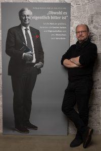Portrait auf Leinwand von Wolfgang Bosbach MdB a.D. zum #derstadtbestes