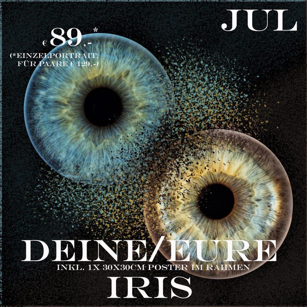 IRis-Fotografie, Dein Auge im Großformat, Einzel- oder Partnerportrait, Aktion im Juni und Juli, Studioportrait,